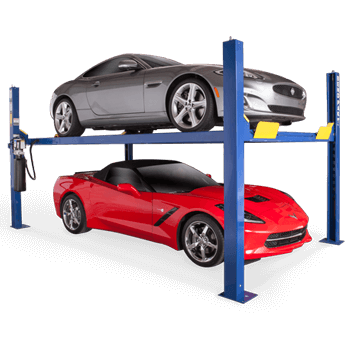 Car Hoist HD-9XL. This is a super-wide four post vehicle hoist.