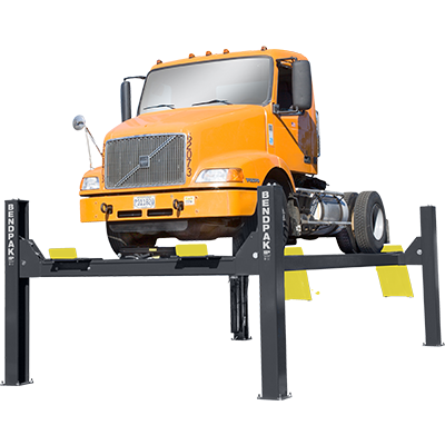HDS-40X Four-Post Truck Hoist with Extended Runways by BendPak