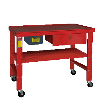 Ranger RWB-1TD heavy-duty tear down work bench is portable for your convenience.
