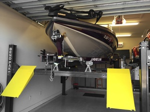 Four Post Hoist Boat Storage Garage