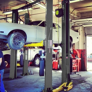 Super Tall Two Post Hoist Auto Repair