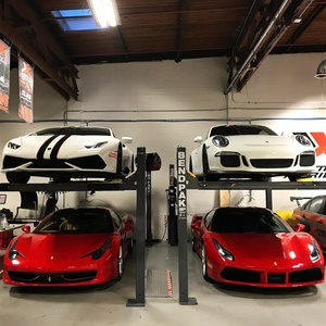 Storing High End Sports Cars BendPak Hoist