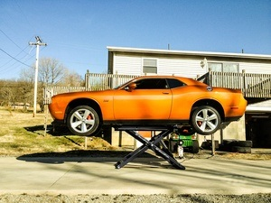 Dodge Challenger Hellcat SRT BendPak Mid Rise Lift