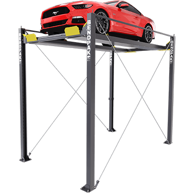 HD-7MZ 3,175-kg. Capacity Super-Tall Four-Post Hoist / Vehicle Display Platform