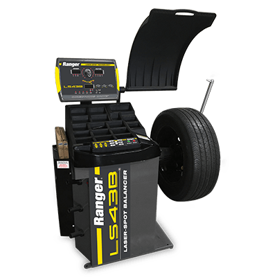 LS43B Wheel Balancer / 3D Quick-Touch™ Laser-Spot™ / 36 mm Shaft