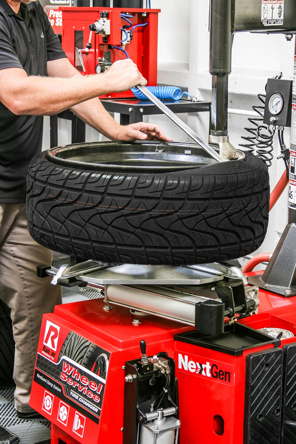 Changing Tyres with Ranger Tyre Changer Equipment