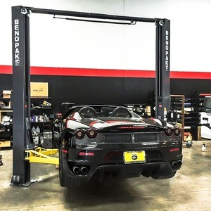 Black Ferrari BendPak Two Post Hoist